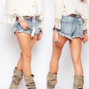 FREE PEOPLE ELLIOT DENIM SHORTS
